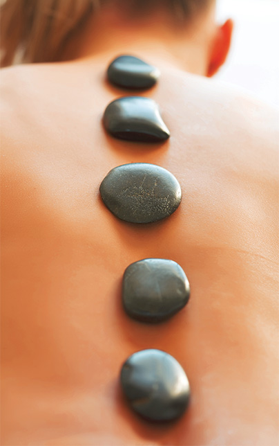 spa school stone massage