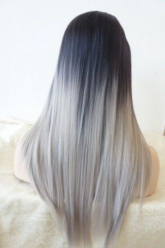 Silver Fade Out Hair