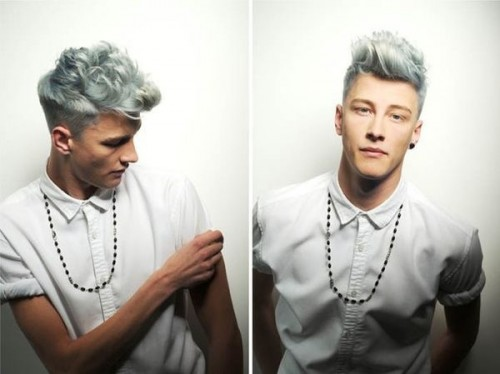 Men's silver hair