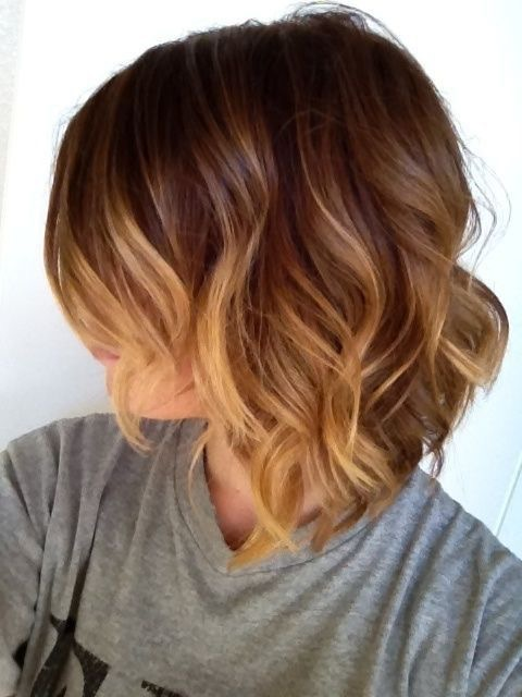 honey brown ombre