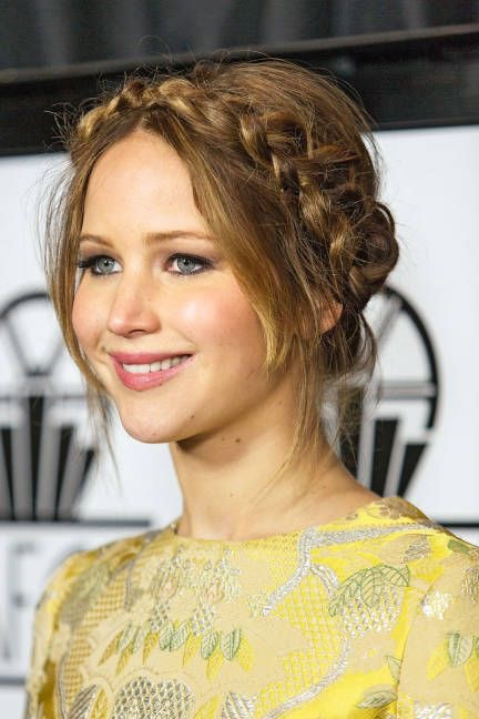 Jennifer Lawrence braid up do