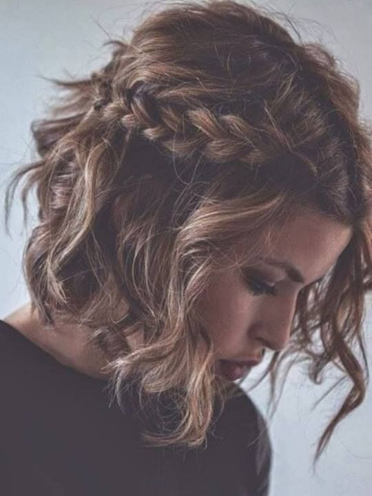 Tied up braid hairstyle