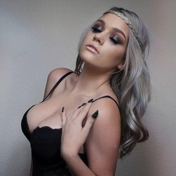 Samantha Ravndahl half-up braid hairstyle