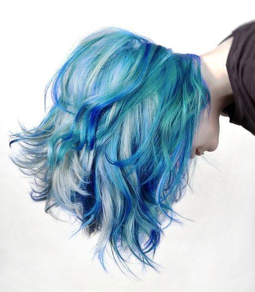 Ocean and Sky Blue Pastel Hair