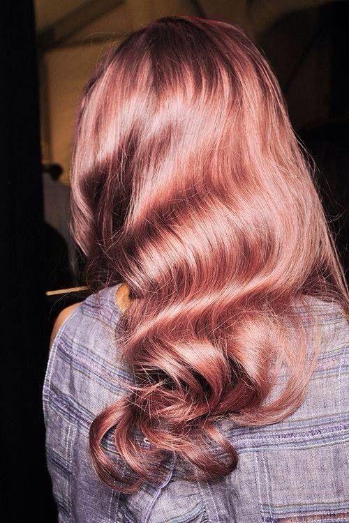 Pink Hair Colour Waves