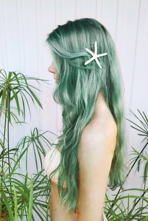 Mermaid Green Hair Colour