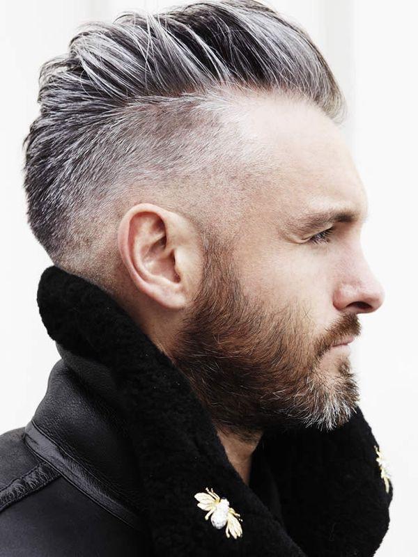 Hair Cut Beard with Grey