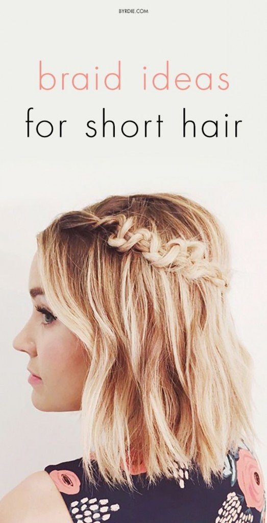 Fall 2015 Hair Trends Long Bob Crown Braid