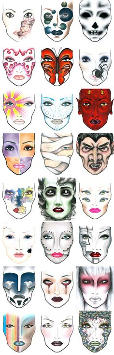 Halloween 2015 Face Chart Ideas