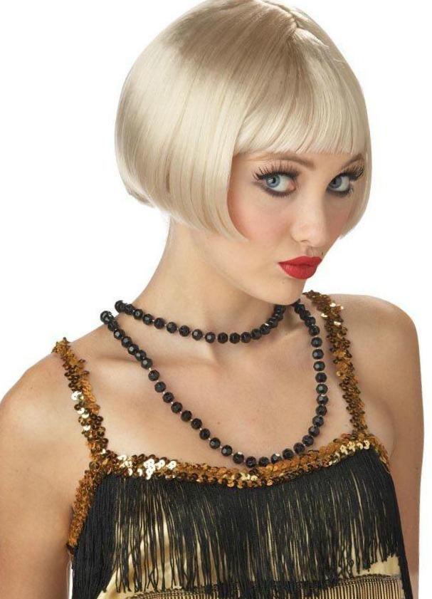 Halloween Hair Blonde Flapper Wig
