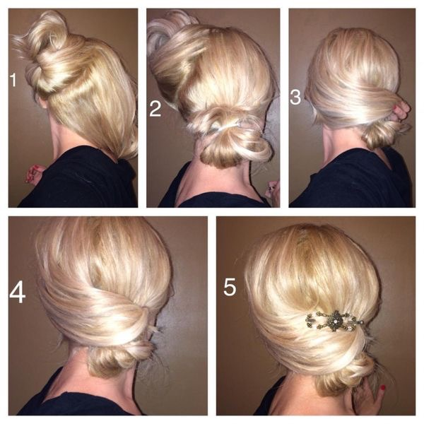 Holiday Hair Blog Low Bun