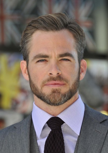 Chris Pine Trimmed Beard - Fade Haircut