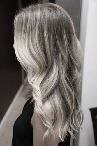 Silver Hair Highlights and Lowlights