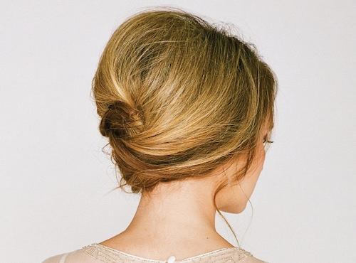 Quick French Roll Hairstyle