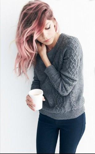 Spring Hair Pink Colour Balayage