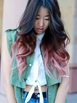 Spring Hair Pink Ombre