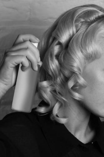 Hair School Hairspray and Blonde Curls