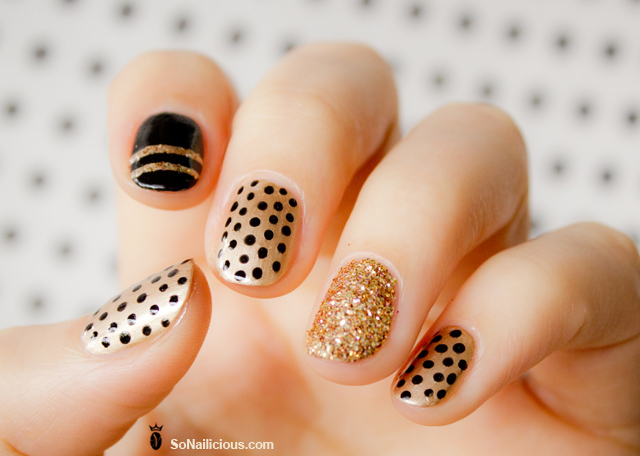 Happy mani monday nail art ideas for short nails sometimes the prettiest nail designs are the easiest use a dotting tool or pin or any tool with a fine tip to create a polka dot manicure prinsesfo Image collections