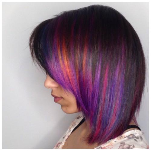 Rainbow Hair Bob
