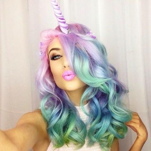 Rainbow Hair Unicorn