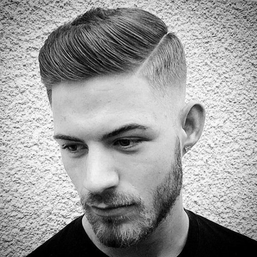 Classic Men's Hair Hard Part