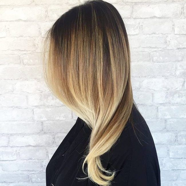 High contrast balayage ombre