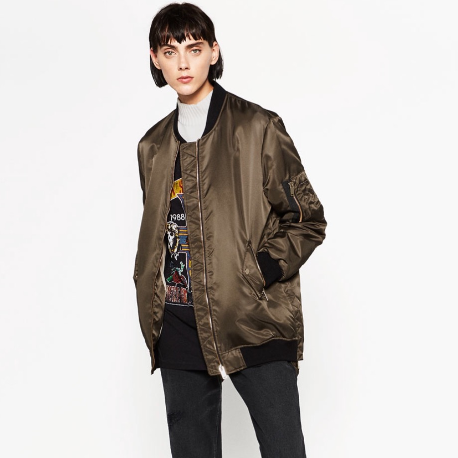 bomber jacket zara best winter coats