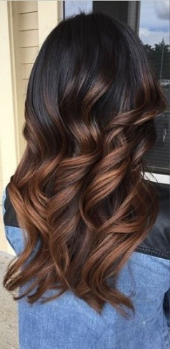 brunette bayalage hair warm