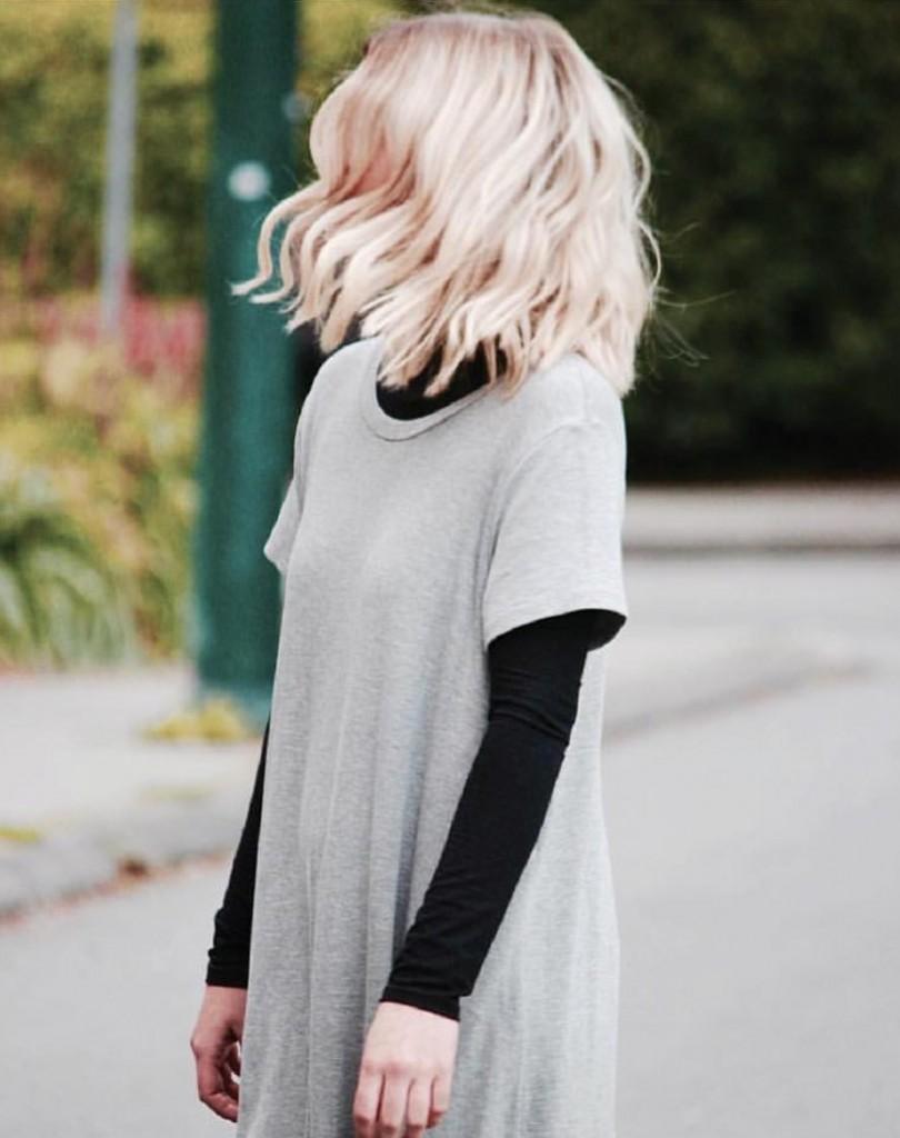 latest scoop grey dress layered