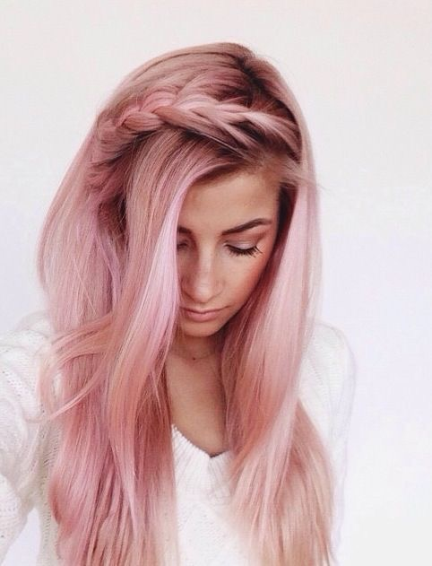 rose gold hair braid