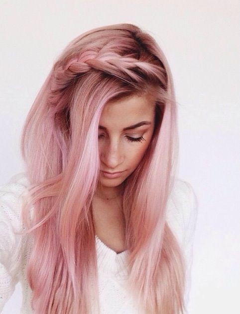 rose gold hair braid
