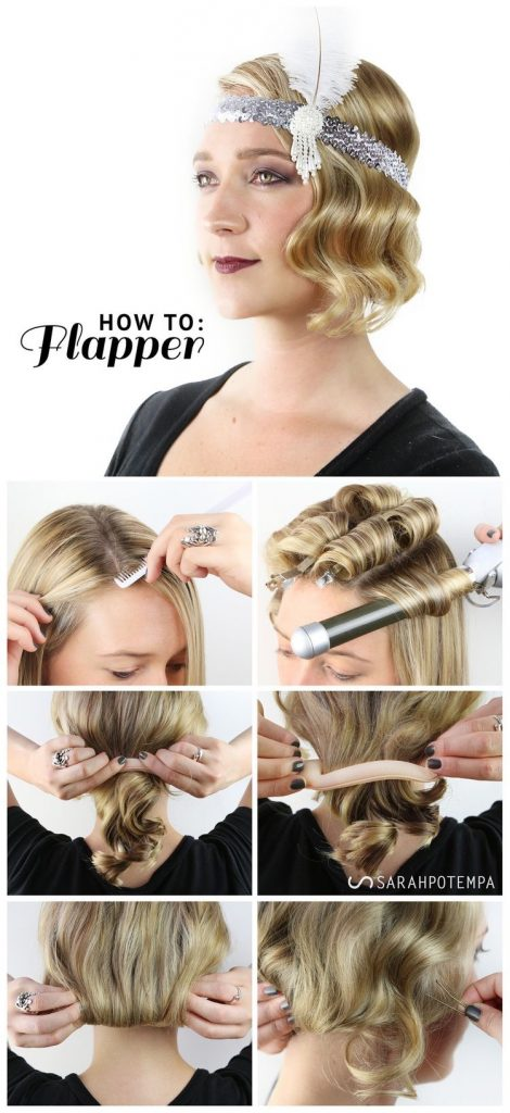 flapper hair tutorial