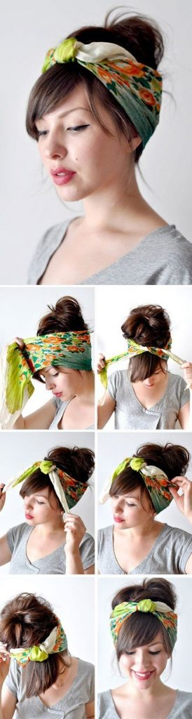 how to make a hair wrap