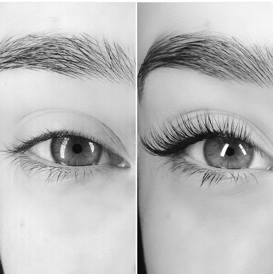 eyelash-extensions before after