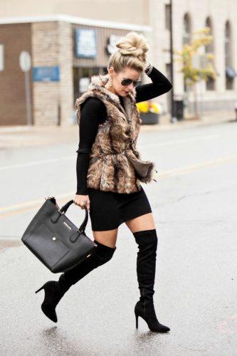 faux-fur-vest-outfit-idea