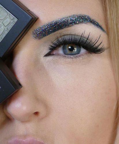 glitter-eyebrows