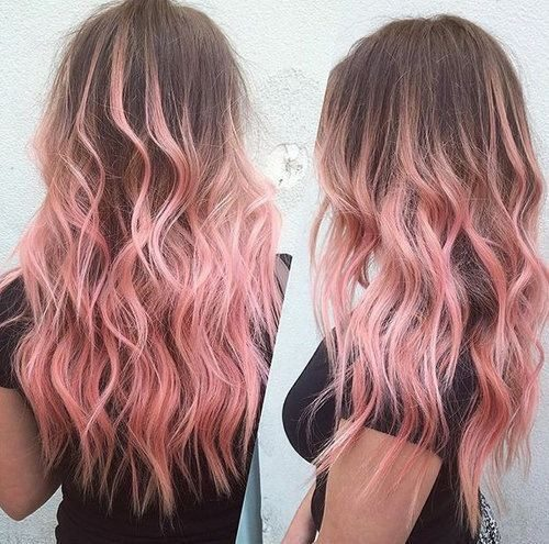 pink ombre hair colour
